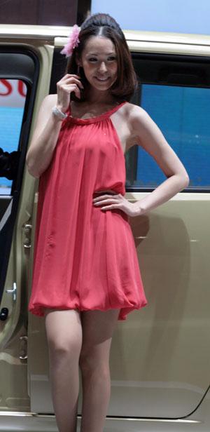 東京モーターショー2009コンパニオンの美ワキなワキフェチ画像