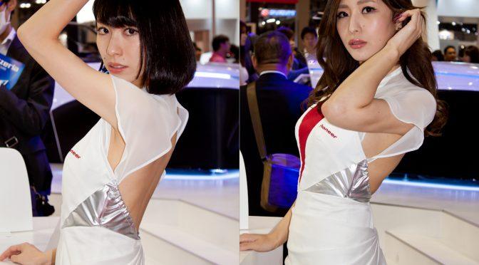 東京モーターショー2017イベントコンパニオンのワキフェチ画像!背中パックリなセクシー衣装のパイオニアブース編!コンパニオンの腋画像!