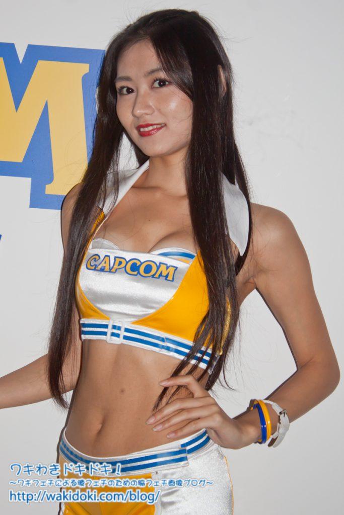 久保田杏奈CAPCOM東京ゲームショウ2018のイベントコンパニオン画像